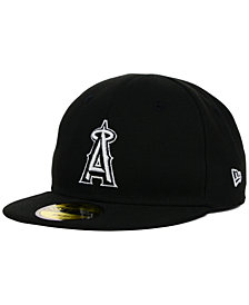 New Era Kids' Los Angeles Angels of Anaheim Black and White 59FIFTY Cap
