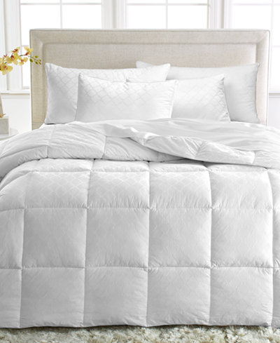 CLOSEOUT! Dream Comfort by Martha Stewart Collection Medium Weight Down Alternative Comforters, 350 Thread Count 100% Cotton Cover, Created for Macy's