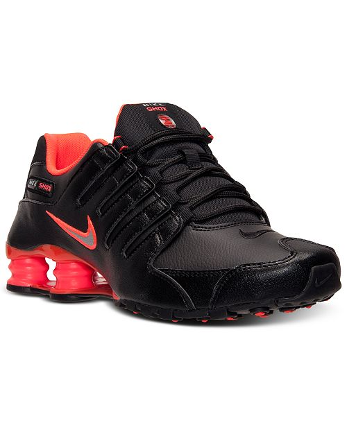 premium selection 8a8c4 0683c ... Nike Men s Shox NZ Running Sneakers from Finish ...