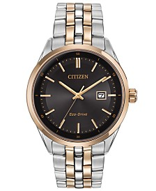 Citizen Men's Eco-Drive Two-Tone Stainless Steel Bracelet Watch 41mm BM7256-50E