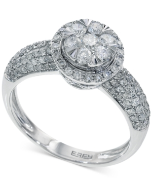 Bouquet by Effy Diamond Halo Engagement Ring in 14k White Gold (1 ct. t.w.)