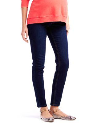 Orange maternity skinny jeans