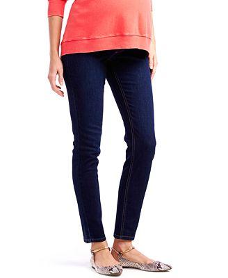 Jessica Simpson Maternity Petite Skinny Jeans, Dark Wash ...