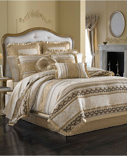 J Queen New York CLOSEOUT! Marcello Gold Comforter Sets