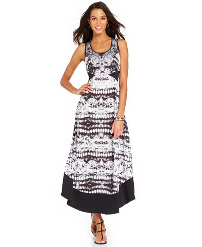 Style co petite sleeveless printed maxi dress sale for Macy s jewelry clearance