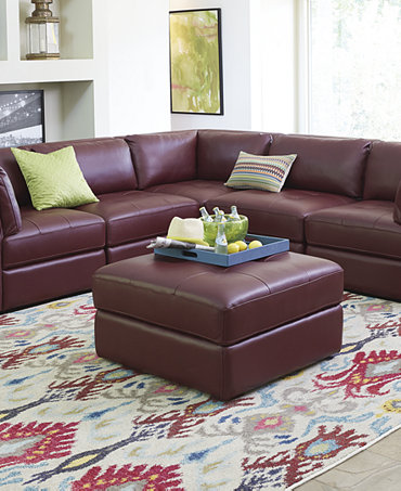 Mariella Leather Modular Living Room Furniture Collection Furniture Macy