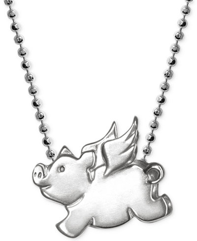 Little pig zodiac pendant necklace in sterling silver necklaces little pig zodiac pendant necklace in sterling silver mozeypictures Gallery