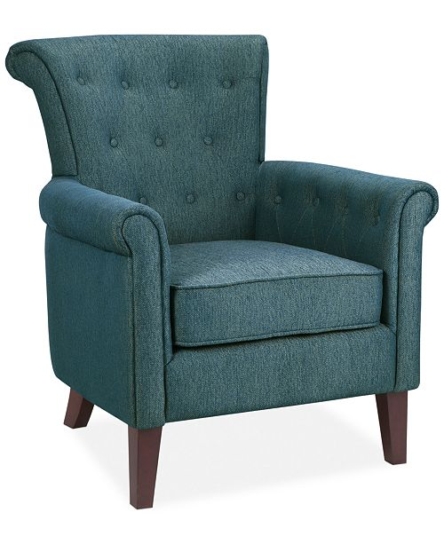 carriage & co. Ino Fabric Accent Chair, Quick Ship