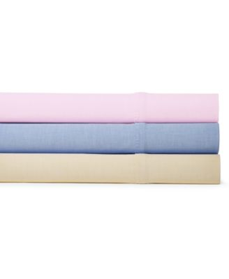 CLOSEOUT! Ralph Lauren Luxury Oxford Sheets - Sheets & Pillowcases ...