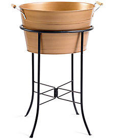 Artland Masonware Antique Copper Finish Party Tub with Stand