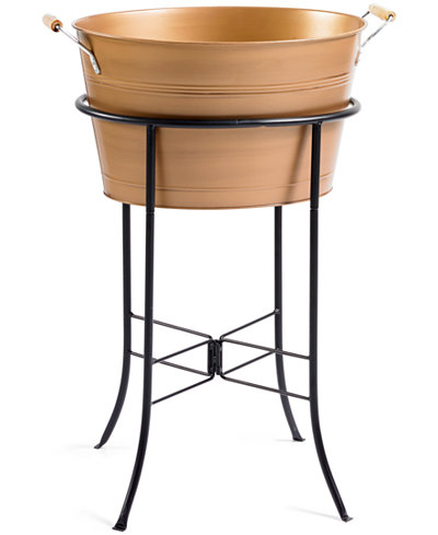 Artland Oasis Antique Copper Finish Party Tub with Stand