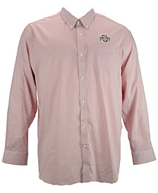 Cutter & Buck Men's Ohio State Buckeyes Tattersall Dress Shirt