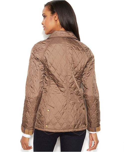 adc56e43c1a Barbour Summer Beadnell Quilt Jacket   Reviews - Coats - Women - Macy s