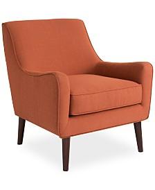 Flint Fabric Accent Chair, Quick Ship
