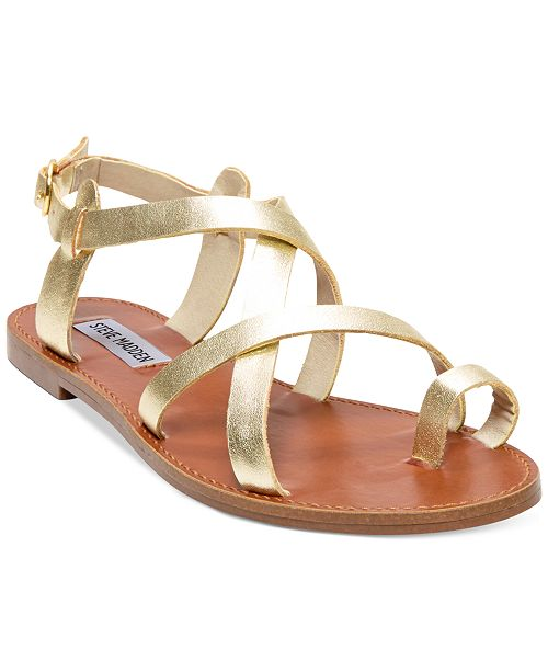 d0919be76495 Steve Madden Women s Agathist Flat Sandals   Reviews - Sandals ...