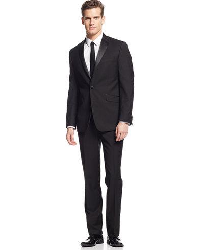 Kenneth Cole Reaction Slim-Fit Black Tuxedo - Suits & Suit ...