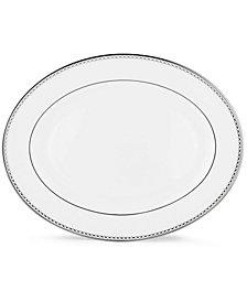 "Lenox Pearl Platinum 16"" Oval Platter"