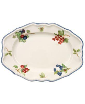 """""""Cottage Inn"""" Oval Platter, 14.5"""""""