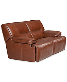 Beckett 88 2 Pc Leather Sectional Sofa With Recliners