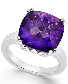 Amethyst Cocktail Ring in Sterling Silver (7 ct. t.w.)