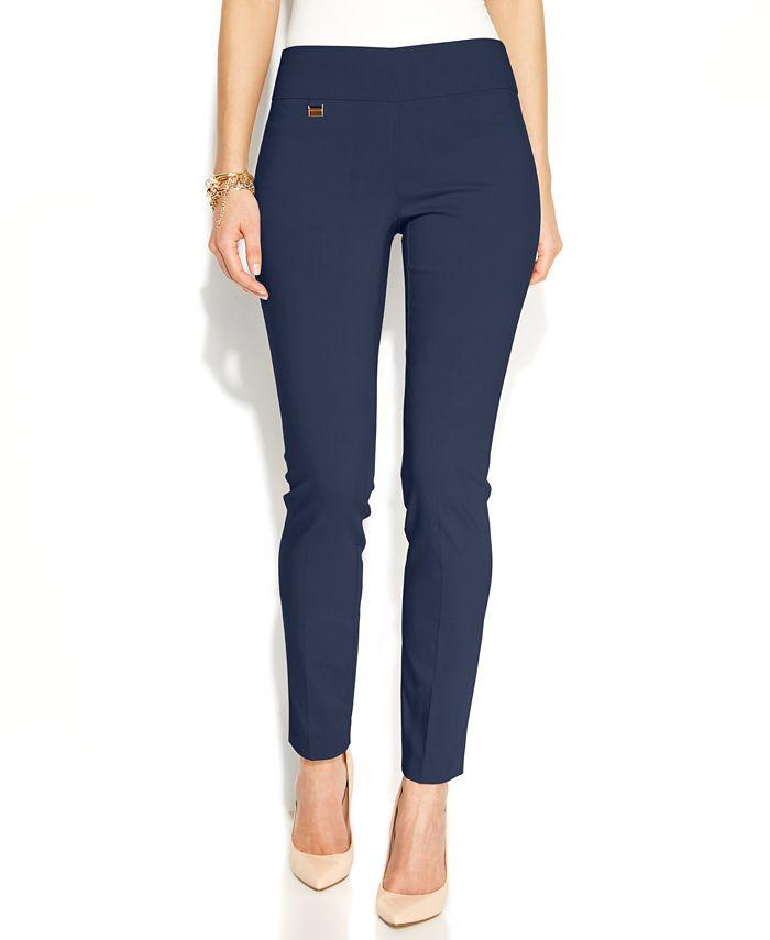 Alfani - Petite Pants, Tummy-Control Skinny Pull-On