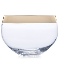 "Mikasa Serenity Gold 9"" Rose Bowl Vase"