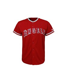 Majestic Los Angeles Angels of Anaheim Replica Jersey, Big Boys (8-20)