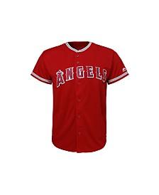 Majestic Los Angeles Angels of Anaheim Replica Jersey, Big Boys (8-20)