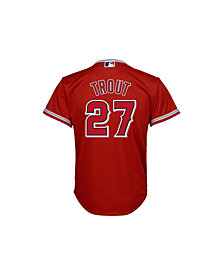Majestic Kid's Mike Trout Los Angeles Angels of Anaheim Replica Jersey, Big Boys (8-20)