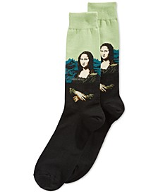 Men's Socks, Mona Lisa Crew