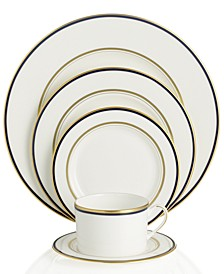 Library Lane Navy 5-Piece Place Setting