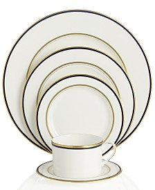 kate spade new york Library Lane Navy 5-Piece Place Setting