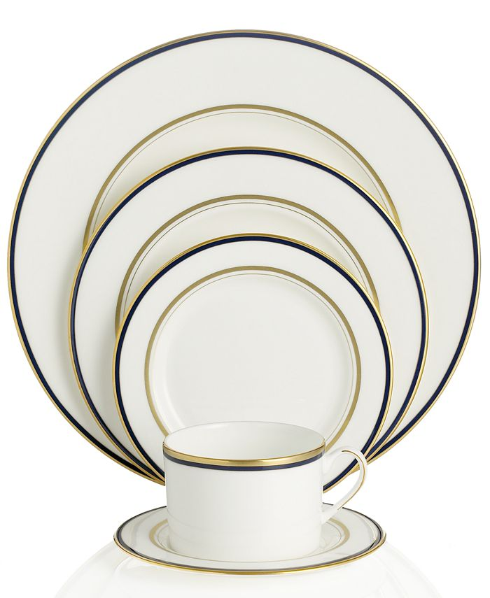 """kate spade new york - """"Library Lane"""" Navy 5 Piece Place Setting"""