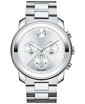 Movado Men's Swiss Chronograph BOLD Stainless Steel 3600276