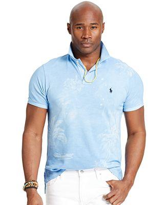 Polo ralph lauren big and tall custom fit tropical print for Big and tall custom shirts