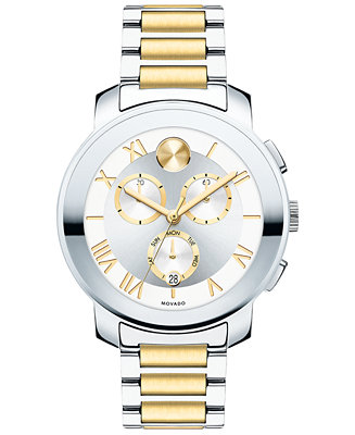 Movado Unisex Swiss Chronograph Bold Two-Tone Stainless 3600280