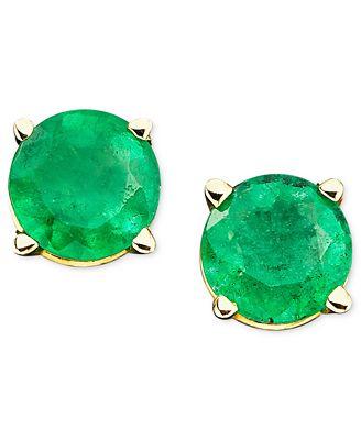 Emerald Stud Earrings in 14k Gold (1 ct. t.w.)