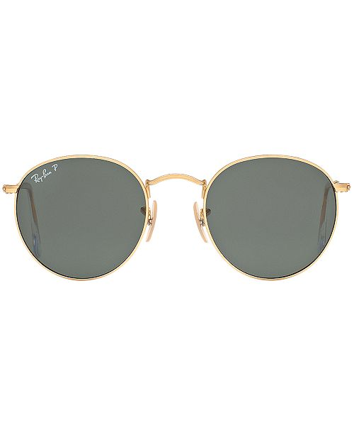 ec113df22cda0 Ray-Ban Polarized Sunglasses, RB3447 ROUND METAL - Sunglasses by ...