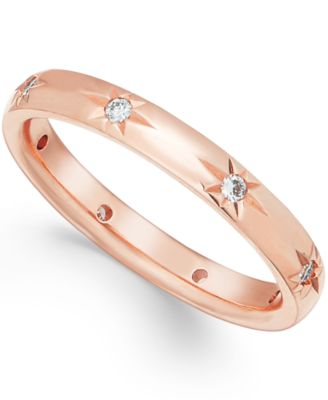 Star by Diamond Wedding Band in 18k Rose Gold (1/8 ct t.w.), Created for Macy's