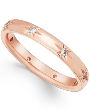 Star by Marchesa Diamond Wedding Band in 18k Rose Gold (1/8 ct t.w.), Created for Macy's