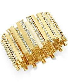 Thalia Sodi Pavé Crystal Bar Stretch Bracelet, Created for Macy's