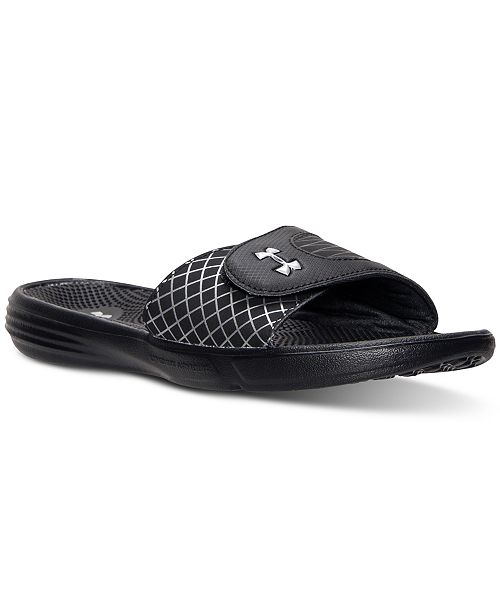 709cc522 Under Armour Women's Micro G EV Slide Sandals from Finish Line ...
