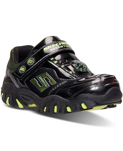 f1d19db17d40 ... Skechers Little Boys  Hot Lights Damager II Adventurer Athletic  Sneakers from Finish ...