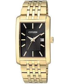 Men's Gold-Tone Stainless Steel Bracelet Watch 38mm BH1673-50E