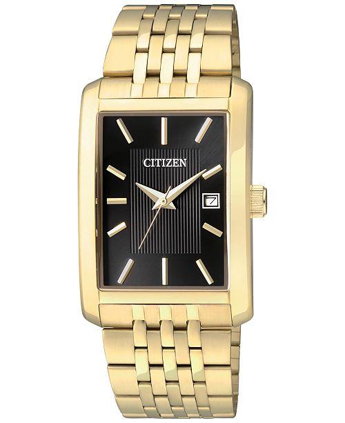 Citizen Men's Gold-Tone Stainless Steel Bracelet Watch 38mm BH1673-50E