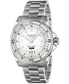 Gucci Unisex Swiss Dive Stainless Steel Bracelet Watch 41mm YA136302
