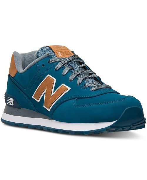 reputable site 0805f 14f79 New Balance Men's 574 Lux Casual Sneakers from Finish Line ...
