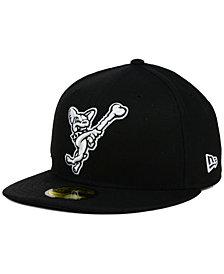 New Era EL Paso Chihuahuas Black and White 59FIFTY Cap