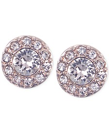 Small Crystal Pavé Stud Earrings