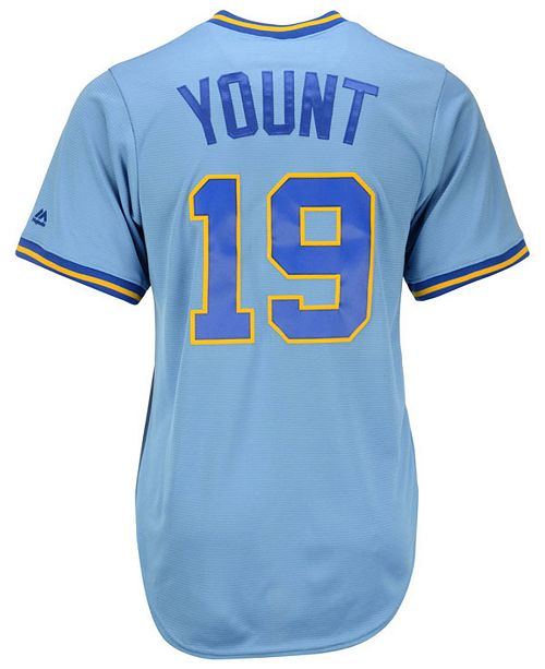 newest 3eaf0 ba874 Robin Yount Milwaukee Brewers Cooperstown Replica Jersey
